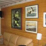 Interiör med bilad vägg